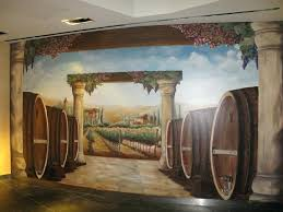 wine and design las vegas wine barrel and vineyard mural at the hotel wine and design wine and design las vegas