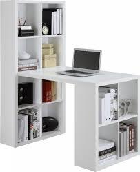 work desk white shelf
