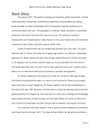 global warming case study page 7 8 back to the future global warming
