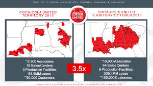 coca cola distribution coca cola united acquires mobile sales and distribution territory
