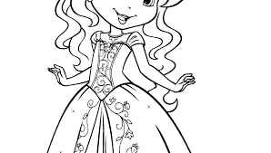 Colouring Pages Of A Girl