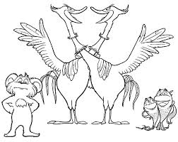 The Lorax Movie Animal Characters Coloring Pages Coloring Sun