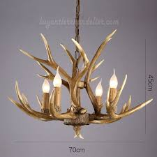 elk deer 4 cast antler chandelier four candle style hanging lights ceiling lighting rustic fixtures