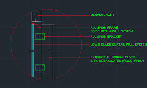 wall detail plus curtain wall detail cad files dwg files plans and details