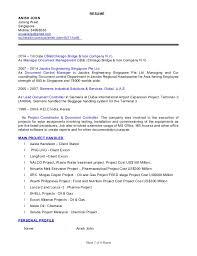 Job Profile Of Document Controller Cv Of Document Controller