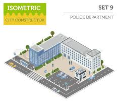 Design Your Own Office Fascinating Flat 48d Isometric Police Department And City Map Constructor