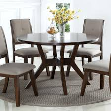 crown mark barney mid century modern round dining table johnny janosik dining tables crown marble dining