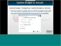 General Ledger 12 8 Budgeting Youtube