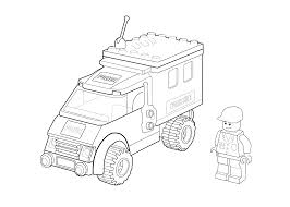 Small Picture Lego police car coloring page for kids printable free Lego