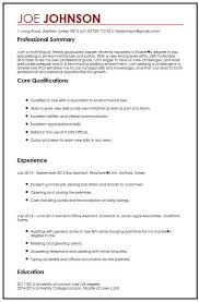 Student Cv Examples Cv Example For Law Students Myperfectcv