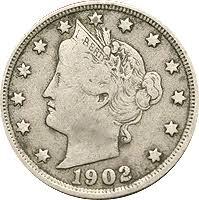 V Nickel Value Chart 1902 Liberty Head V Nickel Value Cointrackers