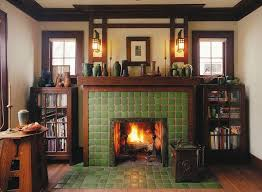 tile and custom fireplace surround