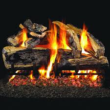 Peterson Split Oak Designer Plus Peterson Gas Logs 30 Inch Charred Rugged Split Oak Logs Only No Burner