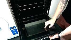 oven door glass how to clean