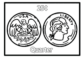 Half Dollar Coloring Page Printable Money Coloring Pages For Kids