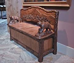 rustic storage bench.  Storage Timberline Rustic Storage Bench To R