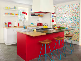 colorful kitchen ideas. Kitchen:Modern Colorful Kitchen Ideas With Red Modern Laminated Cabinet And Rectangle Stainless Steel