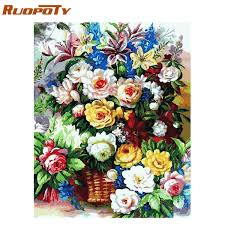 Diy Painting Numbers <b>Flowers</b> Coupons, Promo Codes & Deals ...