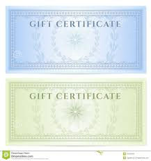 Gift Certificate Voucher Template With Pattern Stock