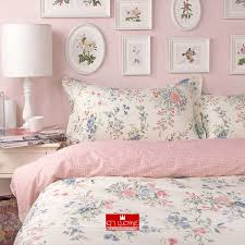 nordic ikea pink beautiful flower bedding princess rustic duvet cover set queen king size