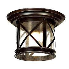 elli sandy black 1 light outdoor flushmount
