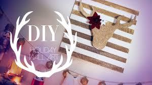 Christmas Wall Art Diy Christmas Reindeer Wall Art Decor Ann Le Youtube