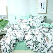green fl bedding sets white and green leaf print fl bedding set leaves tree bed linen duvet cover green fl duvet cover