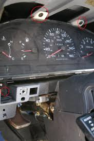 1995 d21 hardbody pathfinder speedo and tachometer repair photos mark these before you remove them so you know where to put them back in use electrical tape or something very important