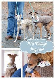 kitschmas gifts diy vintage wool dog coat