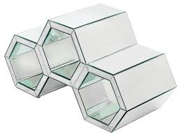 mirrored coffee table. HONEYCOMB STYLE MIRRORED COFFEE TABLE - FM687 Mirrored Coffee Table F