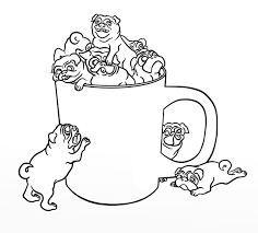 Pug Dog Coloring Page Free Download