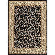 8 x 10 large ivory gold and black area rug elegance rc willey 10 x 10