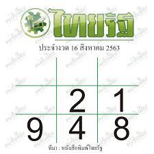 หวยไทยรัฐ 16/8/63 ของแท้จากหมอไก่ พ.พาทินี เลขเด่น