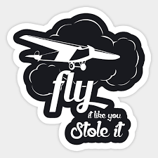 flying planes gifts funny pilots gift sticker