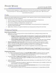 Quality Specialist Sample Resume Unique Human Resources Cover