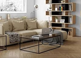 modern gleam coffee table with a marble top in white brown black or green
