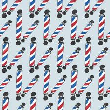 Barber Shop Candy Cane Light Barber Pole Seamless Pattern With Doodle Barber Poles Hand