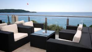 image modern wicker patio furniture. Excellent Modern Outdoor Furniture Nuanced In White And Black To Enhance  Cool Sea Spheres Image Modern Wicker Patio Furniture K