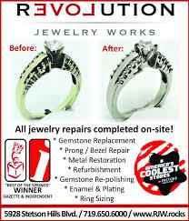evoutionj e w e l r y w o r k safter beforeall jewelry repairs pleted on site gemstone replacementg bezel repairmetal