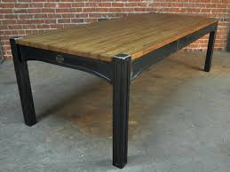 Home Design  Nice Industrial Style Round Dining Table Cute Of Industrial Look Dining Table