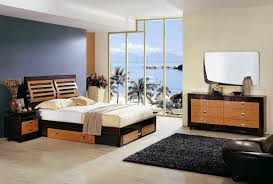 Modern Bedroom Collection Cherry And Wenge Zebrano Contemporary Bedroom Set