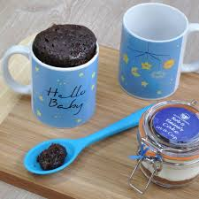 baby boy mug cake set for baby shower or new mum