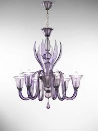 doge 6 l pendant light in lilac murano glass