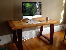 attractive wooden office desk. Attractive Wood Desk For Your Home Office Design: Hand Made Industrial Mill Inspired Reclaimed Wooden I