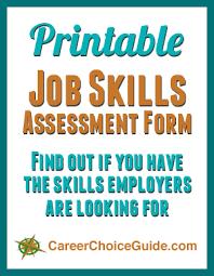 List Of Skills For Employment Printable Job Skills List