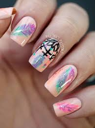 Dream Catcher Feather Meanings 100 Cool Dream Catcher Nail Designs for Native American Fashion 70