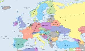 free political maps of europe mapswire com in map off