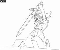 Kleurplaat Link En Het Zwaard Legend Of Zelda Kleurplaten