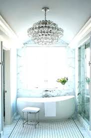 chandeliers for bathroom past 3 light botanical crystal small bathrooms an oversized chandelier in a modern chandeliers for bathroom