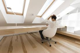 attic home office. Small Loft Apartment Turned Into A Trendy Home, Space Attic Home Office